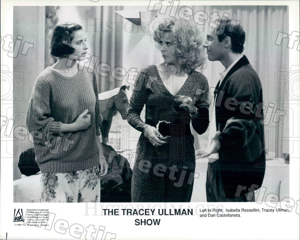 1989 Actor Tracey Ullman/Isabella Rossellini/Dan Castellaneta Press Photo adx525 - Historic Images