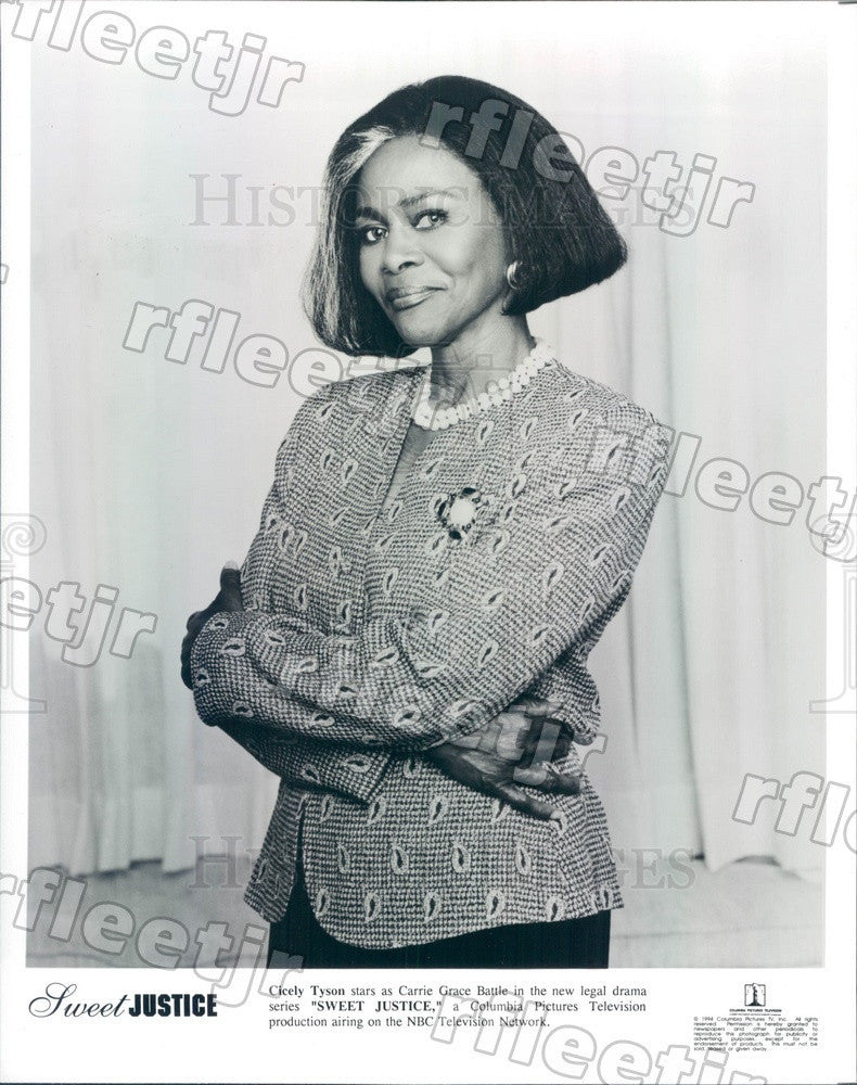 1994 American Actress Cicely Tyson on TV Show Sweet Justice Press Photo adx535 - Historic Images