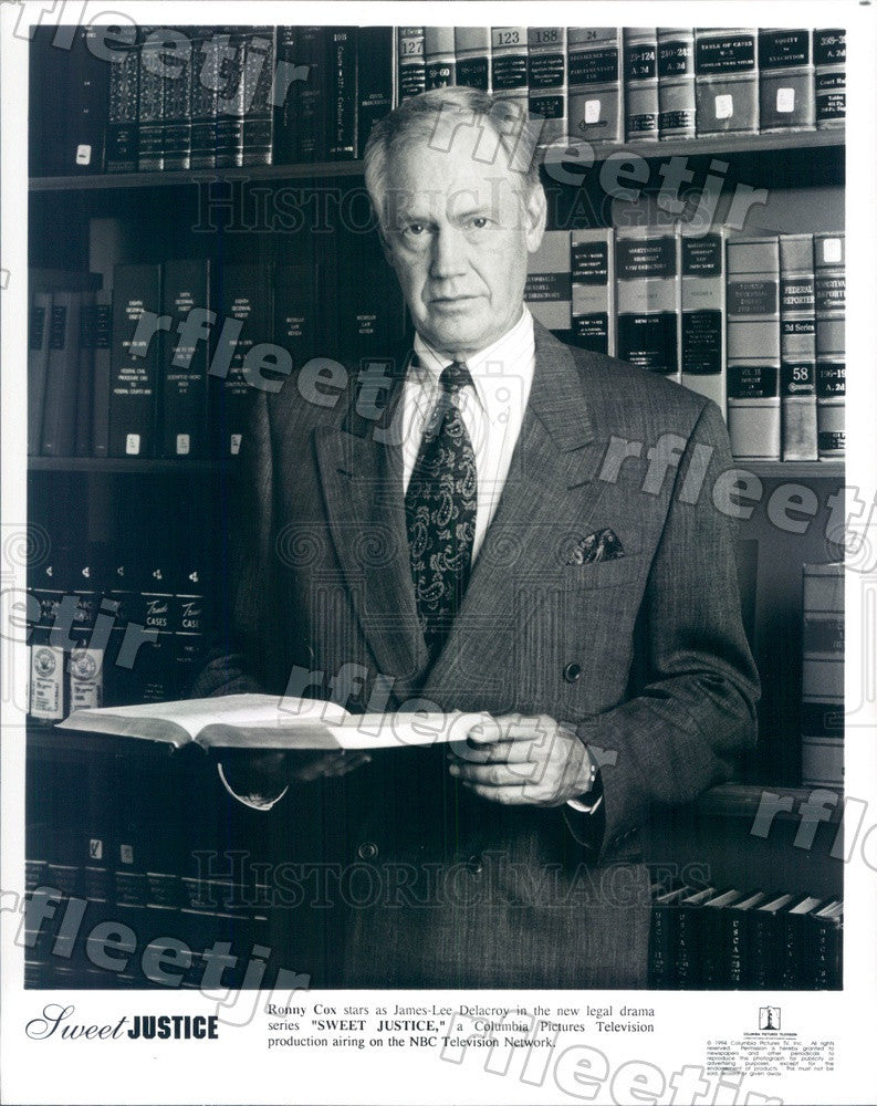 1994 Actor Ronny Cox on TV Show Sweet Justice Press Photo adx539 - Historic Images