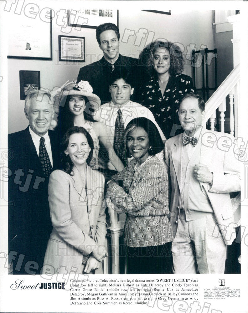 1994 Actors Melissa Gilbert, Cicely Tyson, Ronny Cox Press Photo adx541 - Historic Images