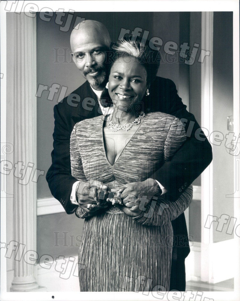 Undated Actors Cicely Tyson & Michael Warren on TV Show Press Photo adx543 - Historic Images