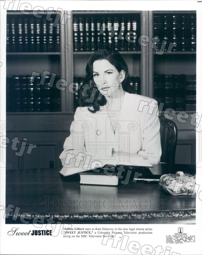 1994 Actress Melissa Gilbert on TV Show Sweet Justice Press Photo adx545 - Historic Images