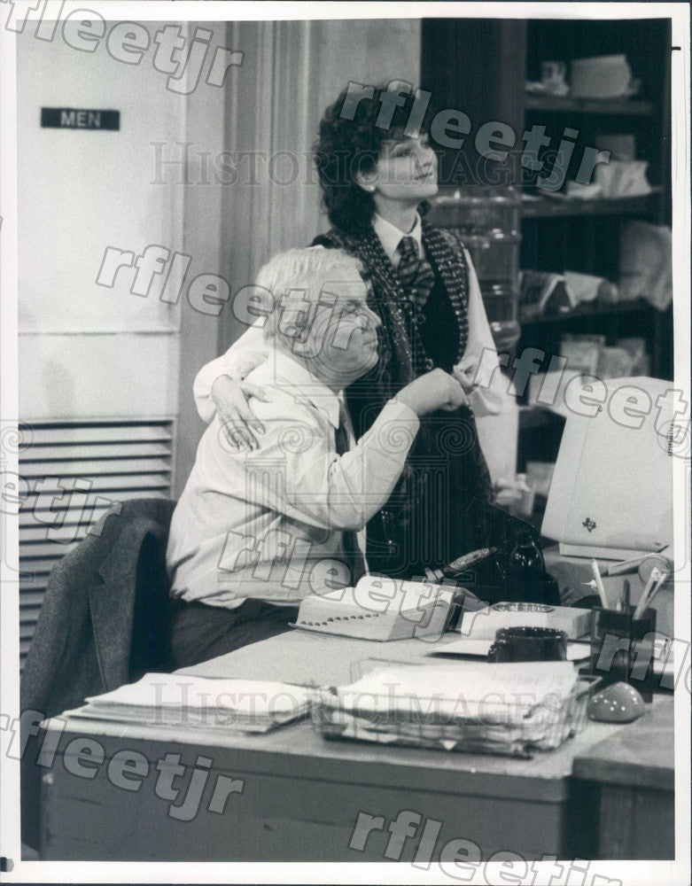 1984 Actors Suzanne Pleshette & Kenneth McMillan on TV Show Press Photo adx559 - Historic Images