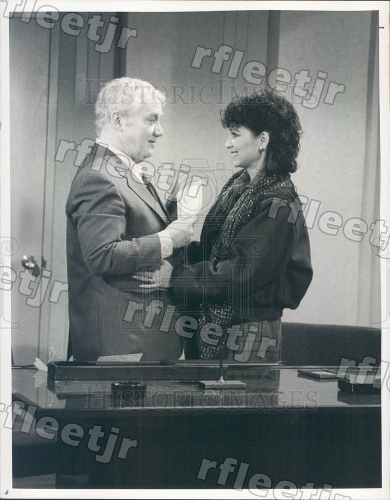 1984 Actors Suzanne Pleshette & Kenneth McMillan on TV Show Press Photo adx563 - Historic Images