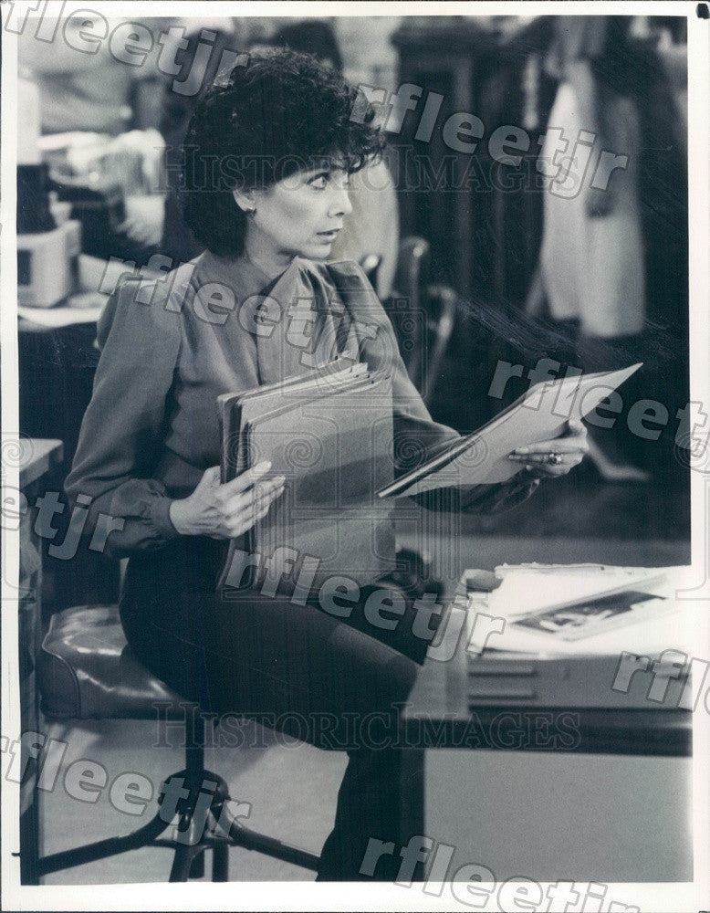 1984 Actress Suzanne Pleshette on TV Show Press Photo adx565 - Historic Images