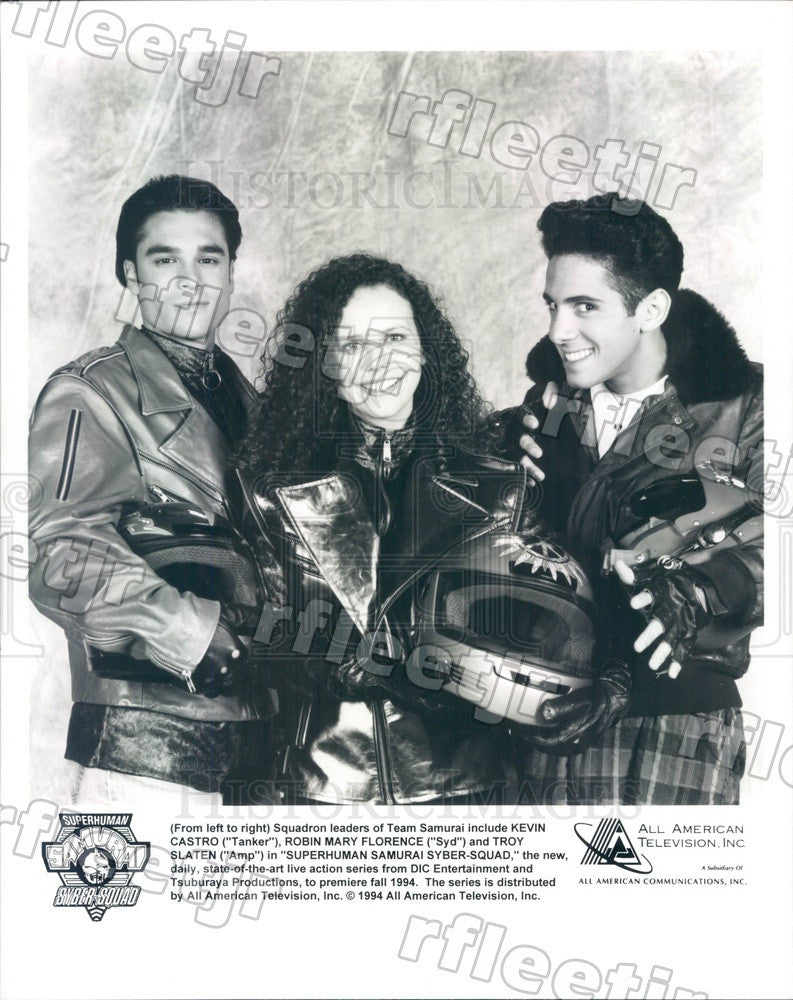 1994 Actors Kevin Castro, Robin Mary Florence, Troy Slayton Press Photo adx567 - Historic Images