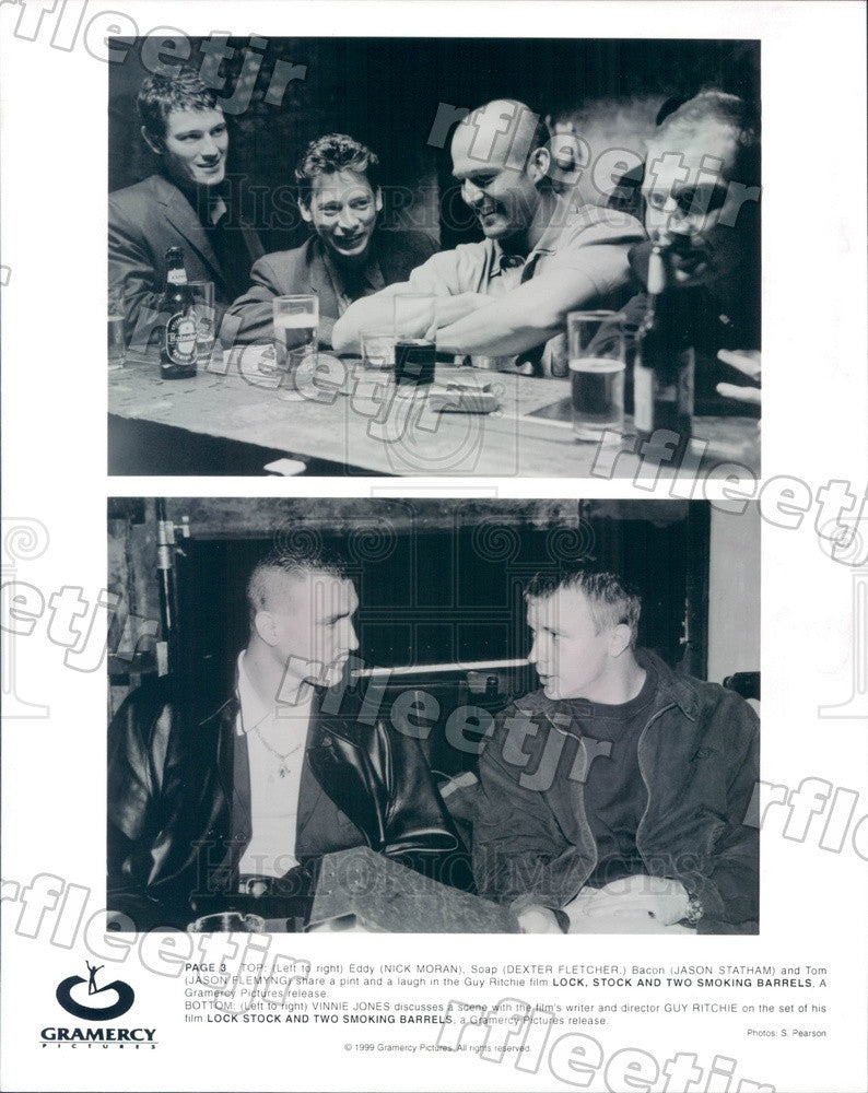 1999 Actors Nick Moran, Dexter Fletcher, Jason Statham Press Photo adx57 - Historic Images