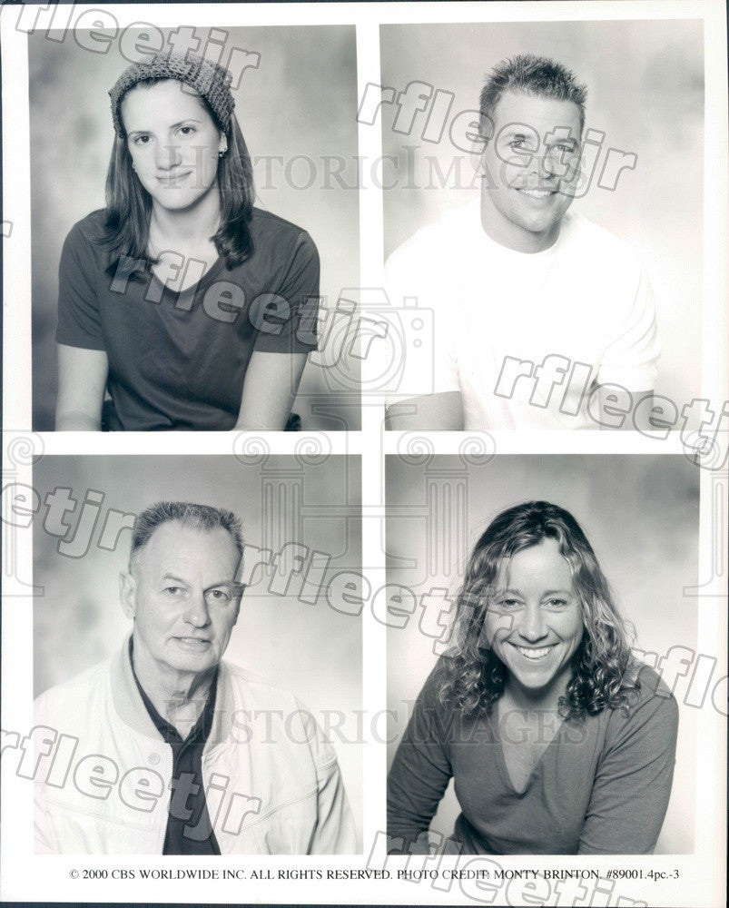 2000 TV Show Survivor Season 1 Contestants Kelly, Joel, Susan Press Photo adx571 - Historic Images