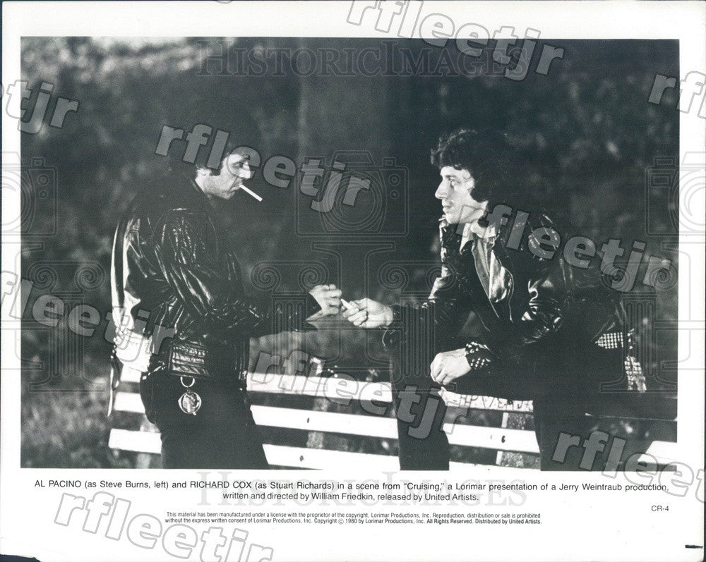 1980 Oscar Winning Actor Al Pacino & Richard Cox in Cruising Press Photo adx613 - Historic Images