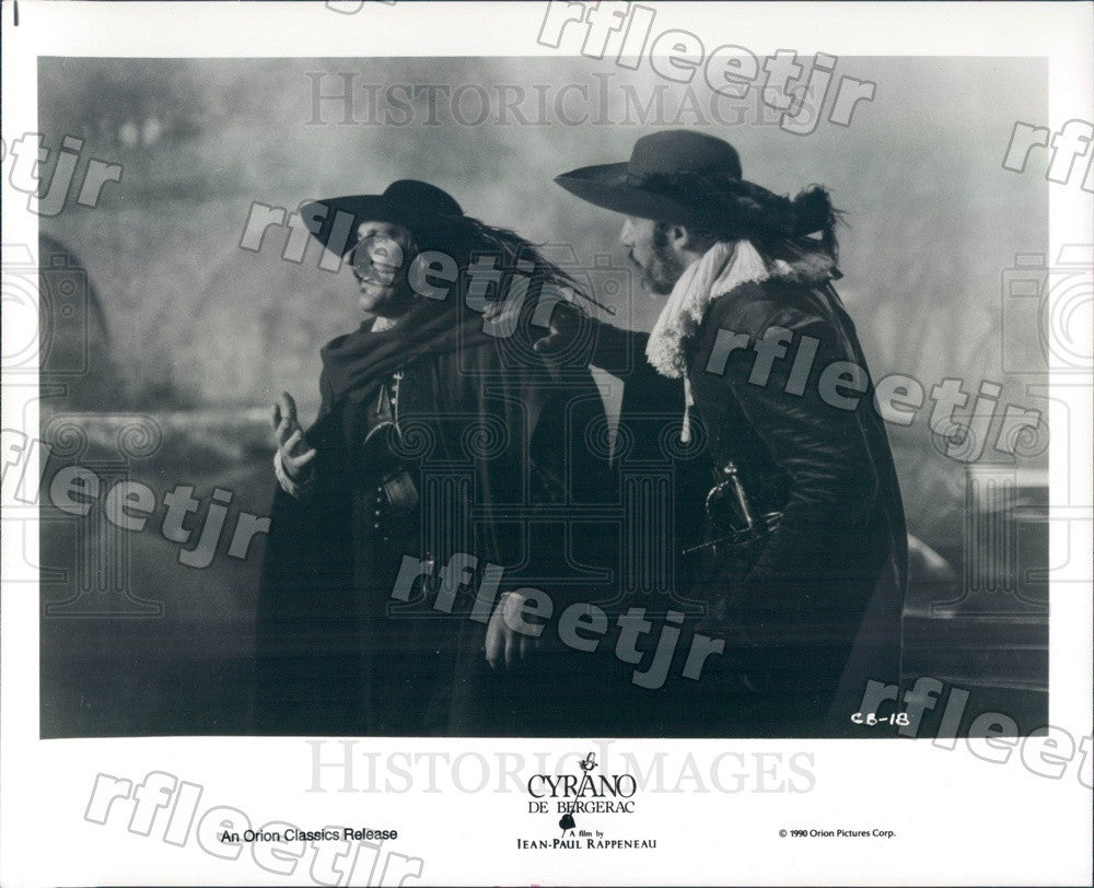 1990 French Actors Gerard Depardieu & Philippe Morier-Genoud Press Photo adx621 - Historic Images