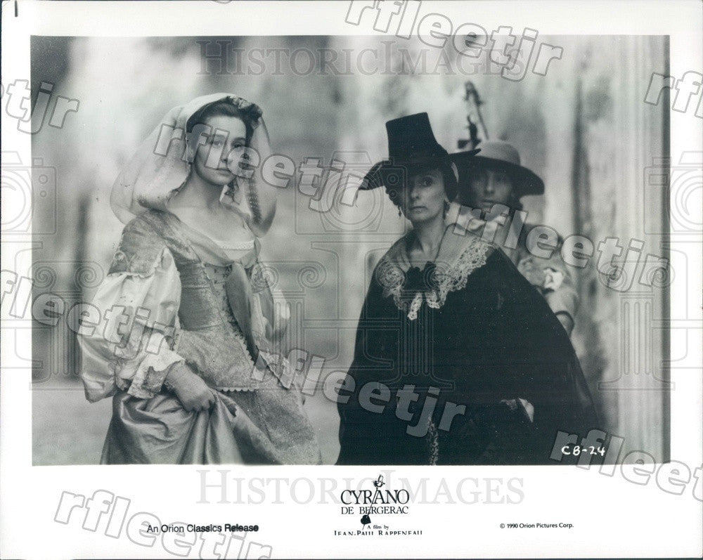 1990 Actors Anne Brochet & Josiane Stoleru in Film Cyrano Press Photo adx623 - Historic Images