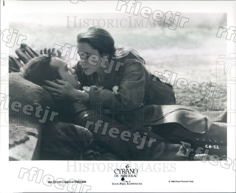 1990 Actors Vincent Perez, Anne Brochet in Cyrano De Bergerac Press Photo adx625 - Historic Images