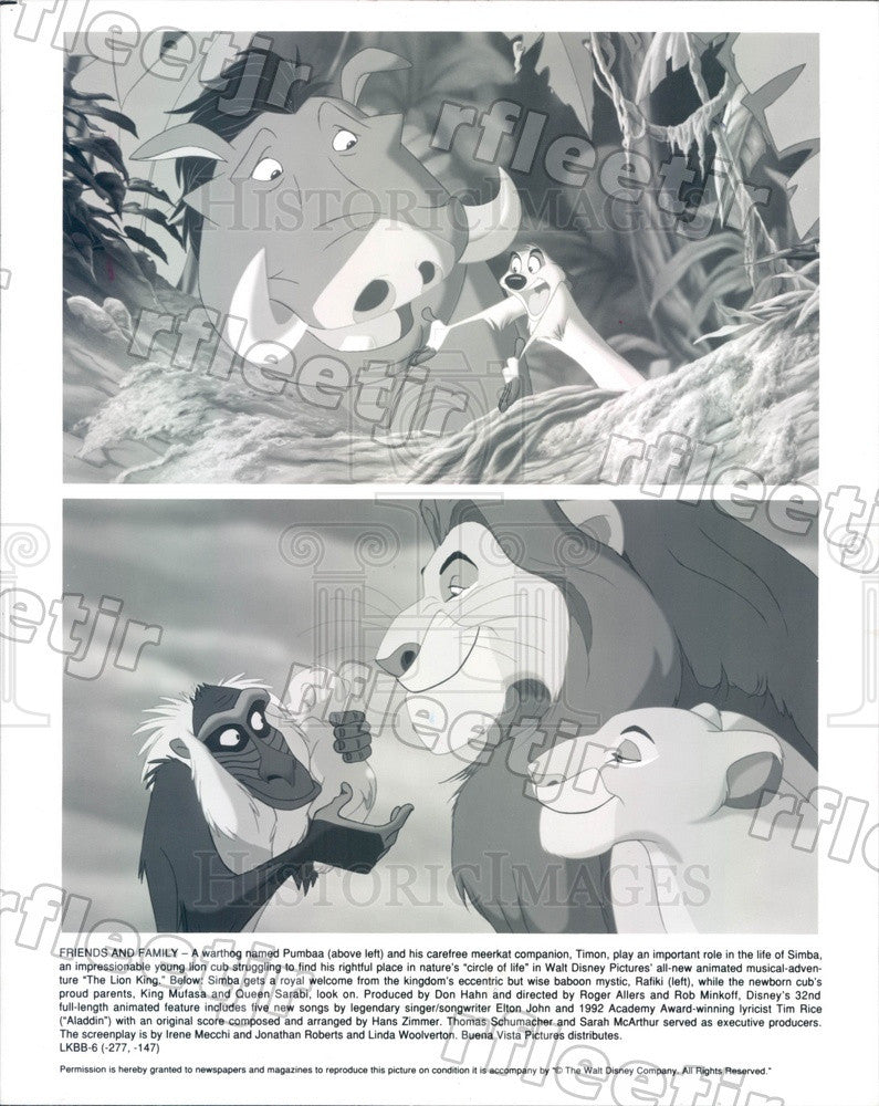 Undated Walt Disney Characters in Film The Lion King, Simba Press Photo adx627 - Historic Images