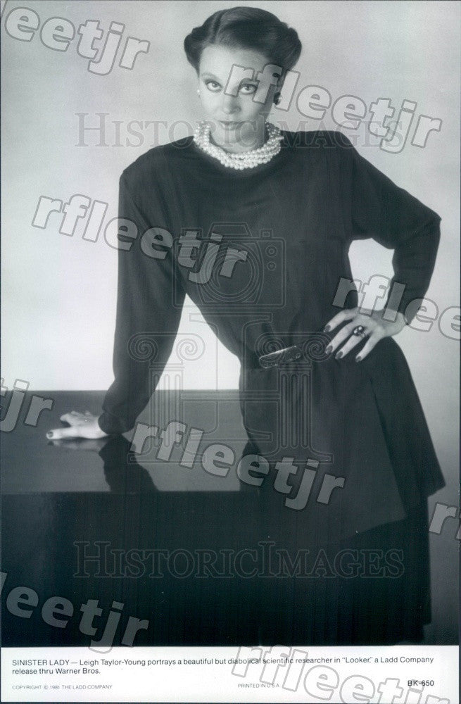 1981 American Actress Leigh Taylor-Young in Film Looker Press Photo adx639 - Historic Images