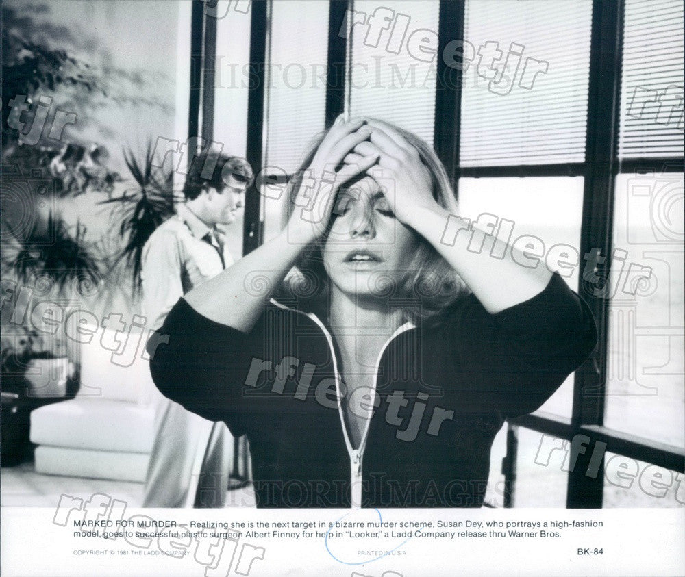 1981 Actors Susan Dey & Albert Finney in Film Looker Press Photo adx645 - Historic Images