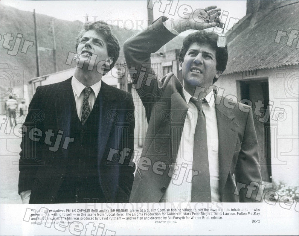 1983 Oscar Winning Actor Peter Capaldi & Peter Riegert in Film Press Photo adx67 - Historic Images