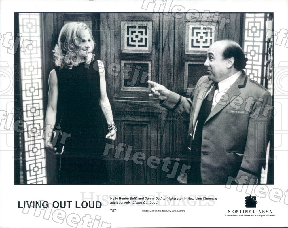1998 Award Winning Actors Danny DeVito & Holly Hunter in Film Press Photo adx677 - Historic Images