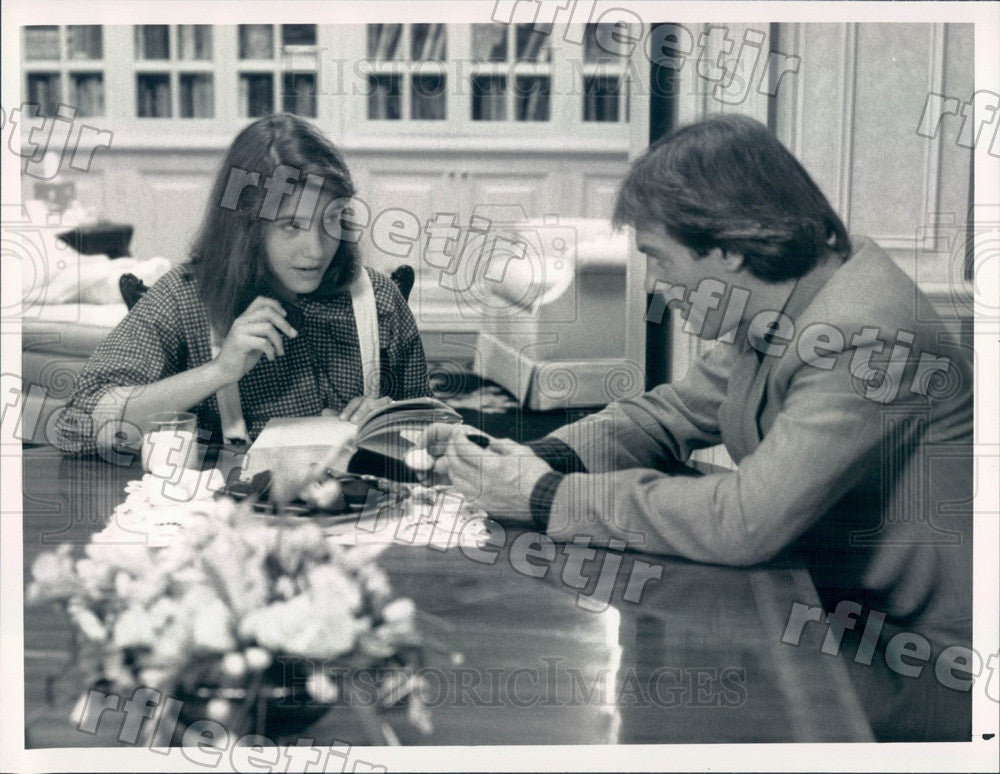1988 Actors Stephen Collins & Chay Lentin on Tattinger's Press Photo adx679 - Historic Images