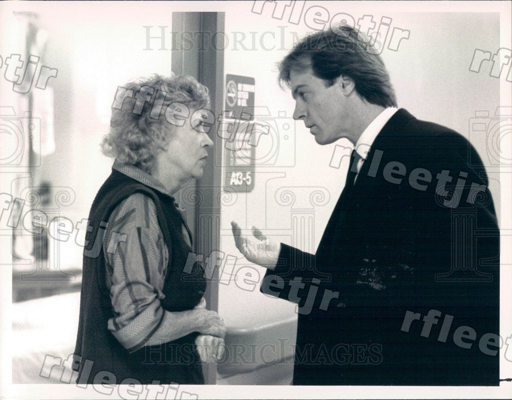 1988 Actors Stephen Collins & Tony Winner Uta Hagen Press Photo adx685 - Historic Images