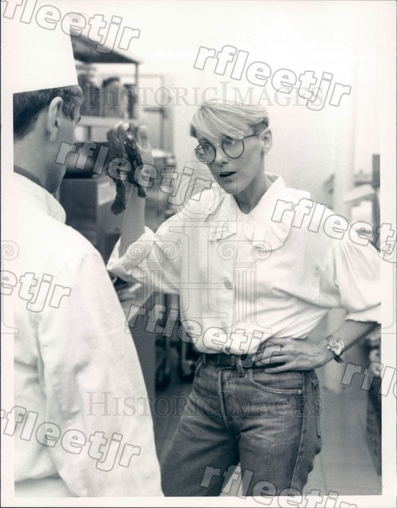 1988 Actors Mary Beth Hurt & Yusef Bulos on Tattinger's Press Photo adx687 - Historic Images