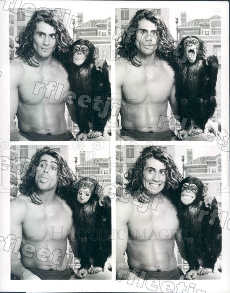 1989 Actors Joe Lara & Max in Film Tarzan In Manhattan Press Photo adx689 - Historic Images