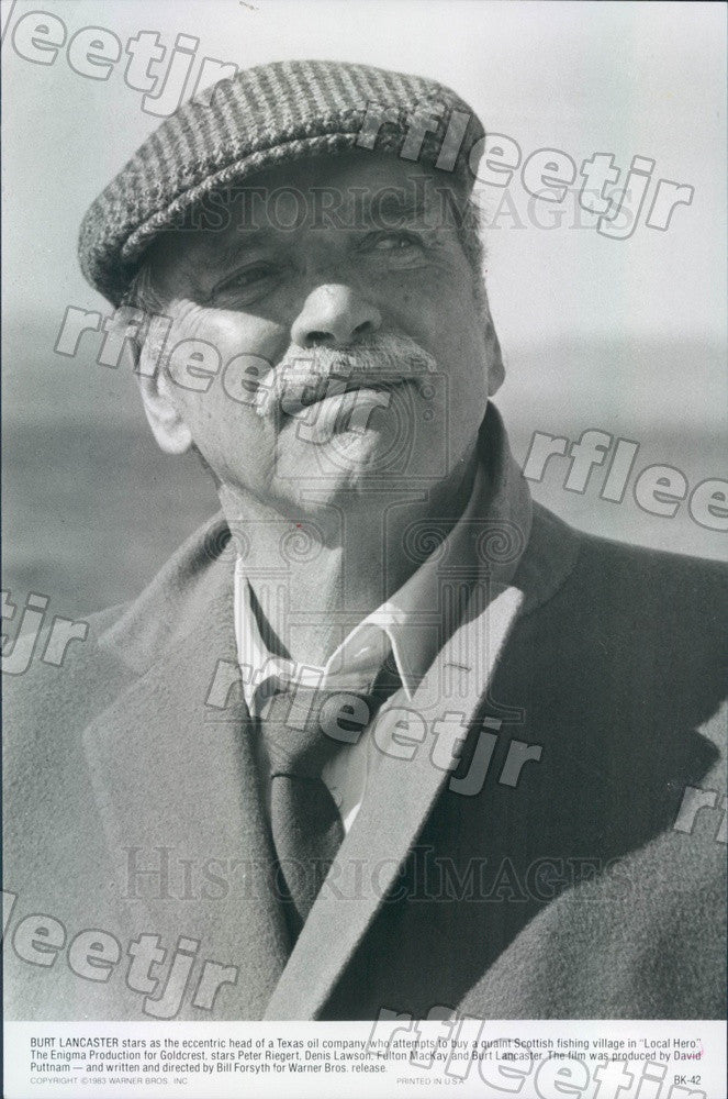 1983 Oscar Winning Actor Burt Lancaster in Film Local Hero Press Photo adx69 - Historic Images