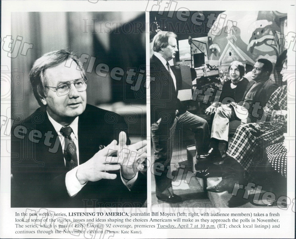1992 American Journalist Bill Moyers Press Photo adx7 - Historic Images