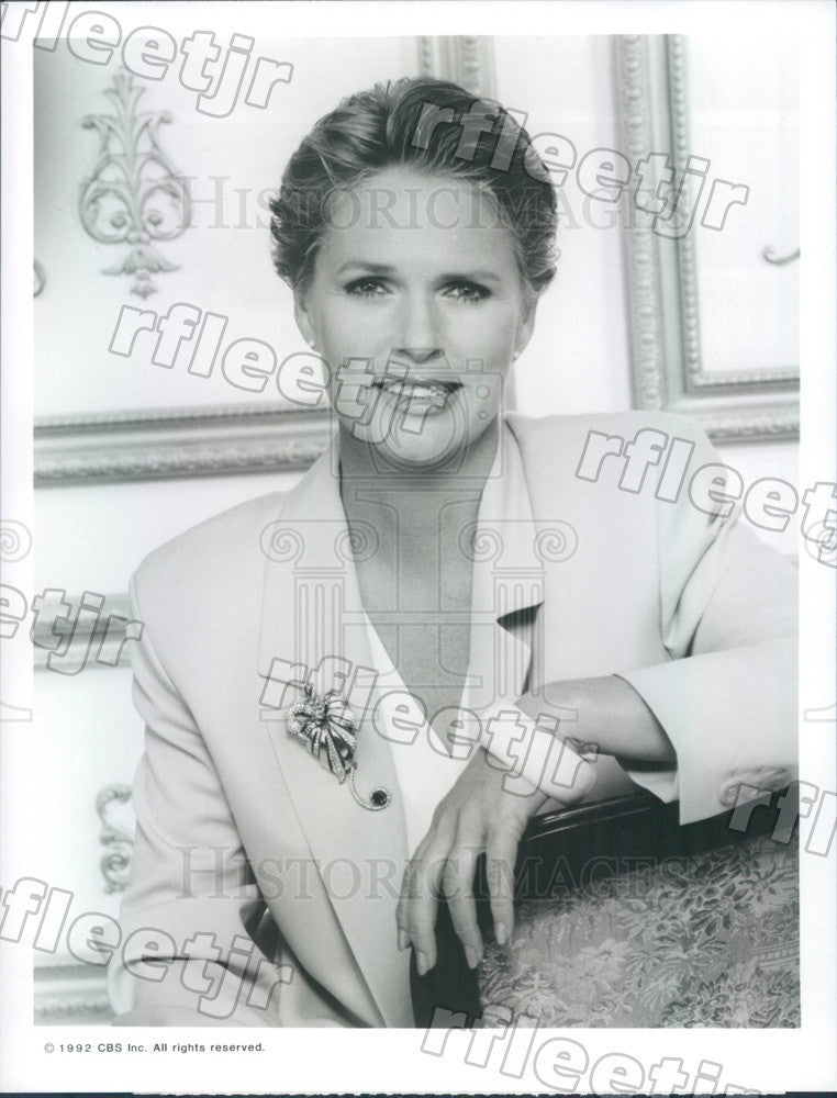 1992 Emmy Winning Actress Sharon Gless on TV Show Press Photo adx703 - Historic Images