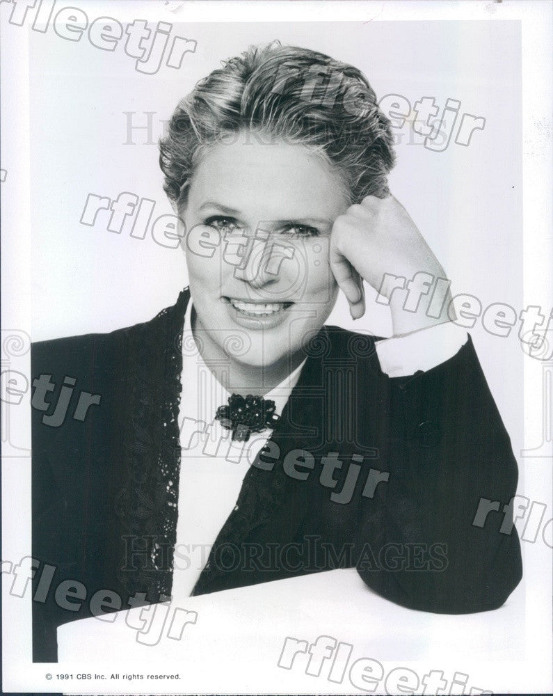 1991 Emmy Winning Actress Sharon Gless on TV Show Press Photo adx707 - Historic Images