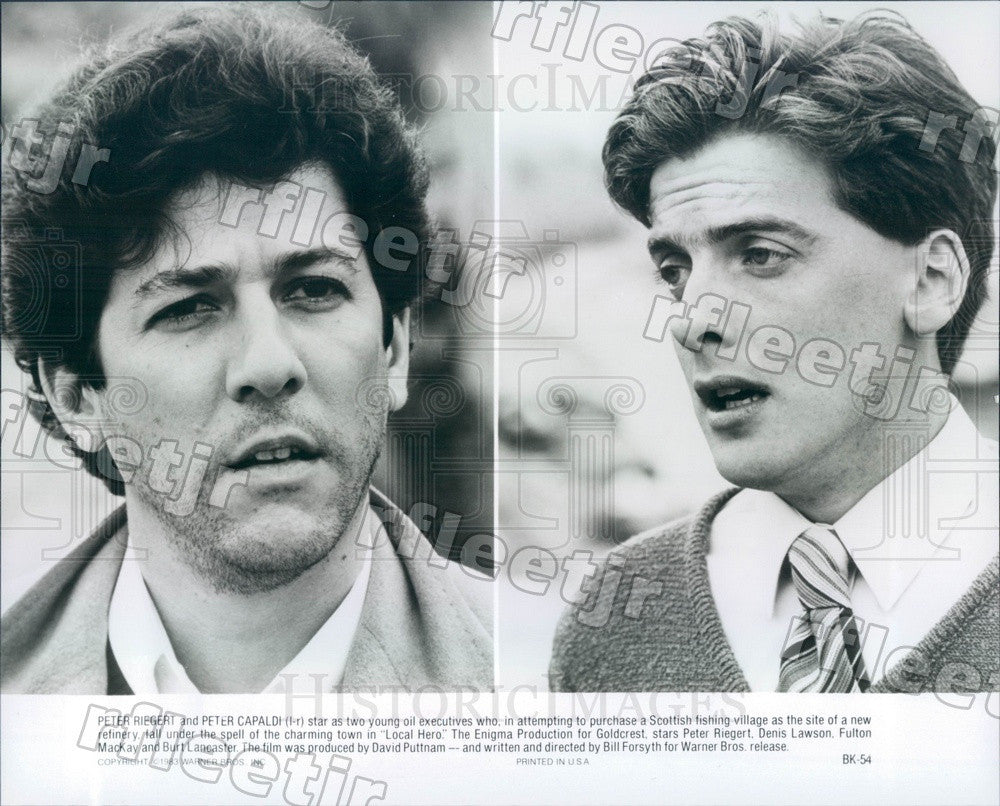 1983 Oscar Winning Actor Peter Capaldi & Peter Riegert in Film Press Photo adx71 - Historic Images