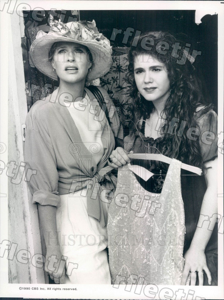 1990 Emmy Winning Actress Sharon Gless & Lisa Rieffel Press Photo adx711 - Historic Images