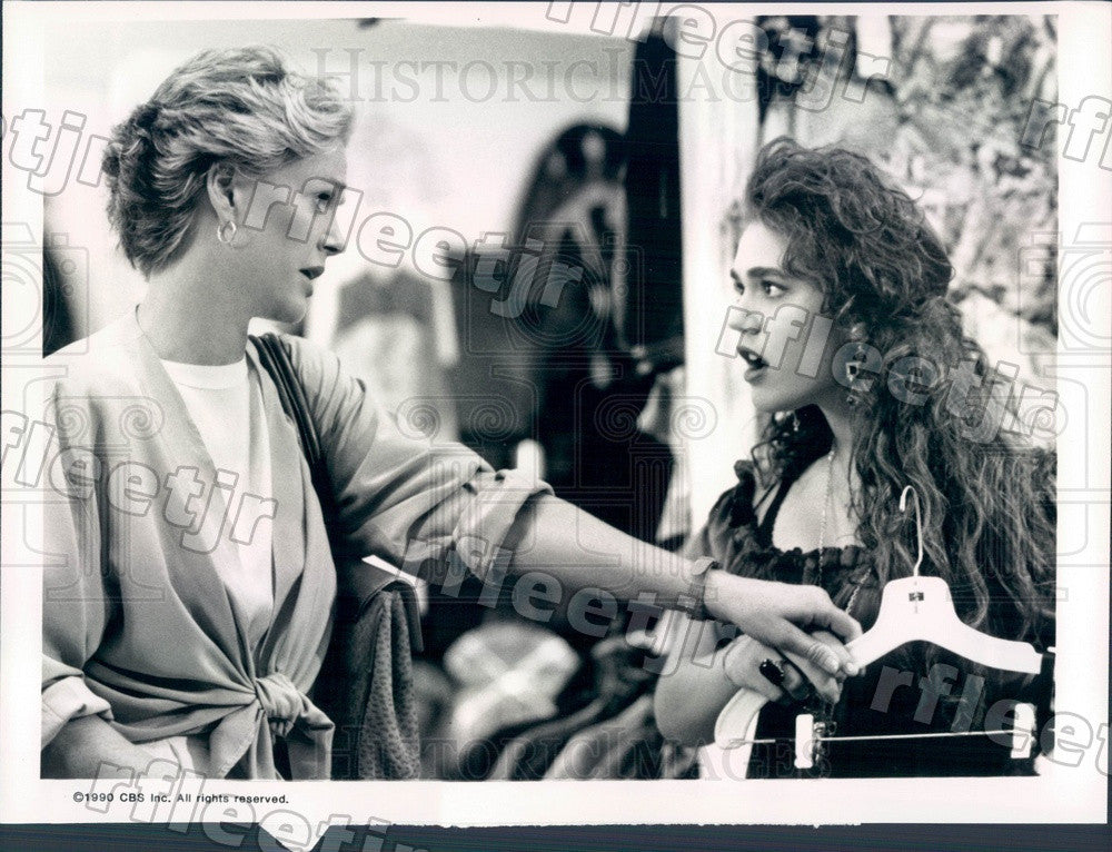 1990 Emmy Winning Actress Sharon Gless & Lisa Rieffel Press Photo adx715 - Historic Images