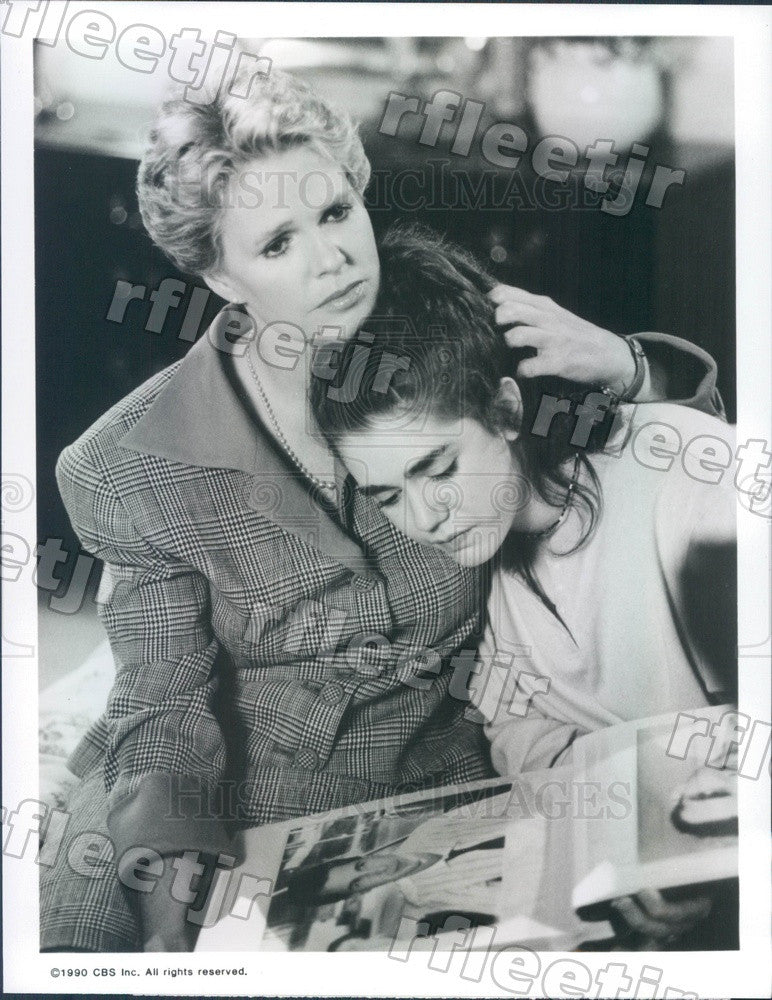 1990 Emmy Winning Actress Sharon Gless & Lisa Rieffel Press Photo adx717 - Historic Images