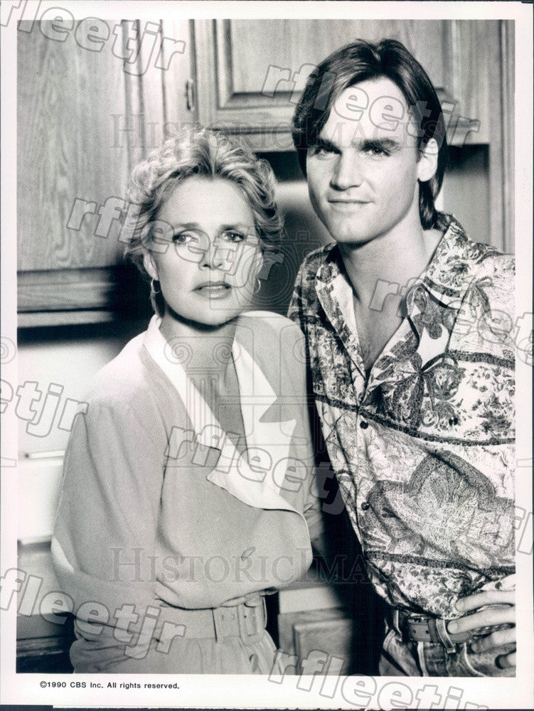 1990 Emmy Winning Actress Sharon Gless & Doug Wert on TV Show Press Photo adx719 - Historic Images