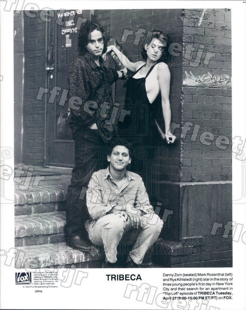 1993 Actors Danny Zorn, Mark Rosenthal, Rya Kihlstedt Press Photo adx721 - Historic Images