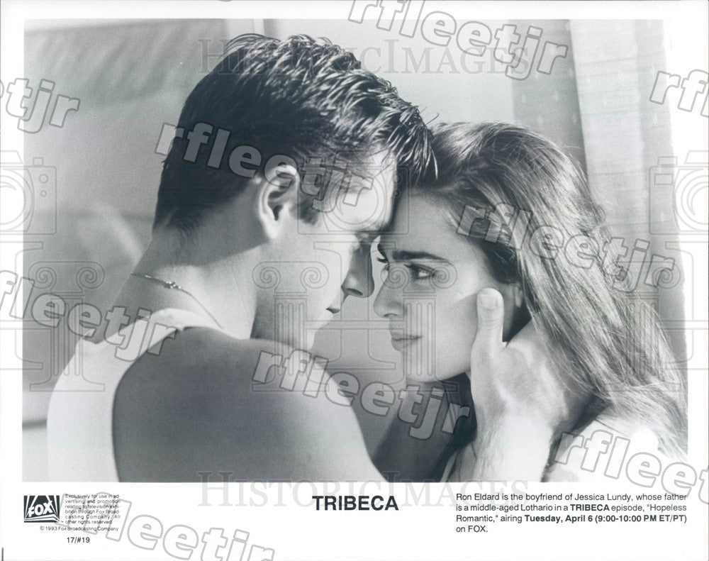 1993 Actors Ron Eldard & Jessica Lundy on TV Show Tribeca Press Photo adx727 - Historic Images
