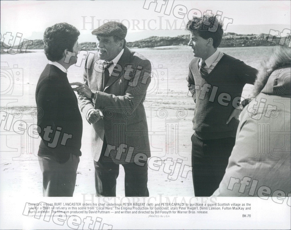 1983 Oscar Winning Actors Burt Lancaster & Peter Capaldi Press Photo adx73 - Historic Images