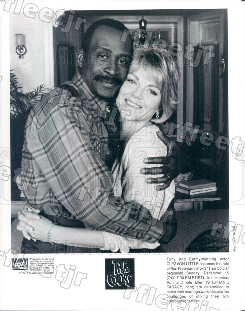 1991 Tony Winning Actor Cleavon Little, Stephanie Faracy Press Photo adx743 - Historic Images