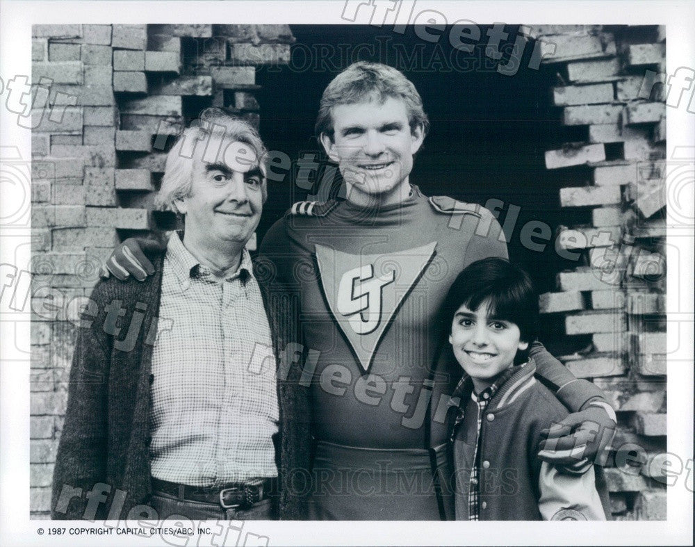 1987 Actor Milo O'Shea, Jim Turner, Josh Blake on True Colors Press Photo adx745 - Historic Images