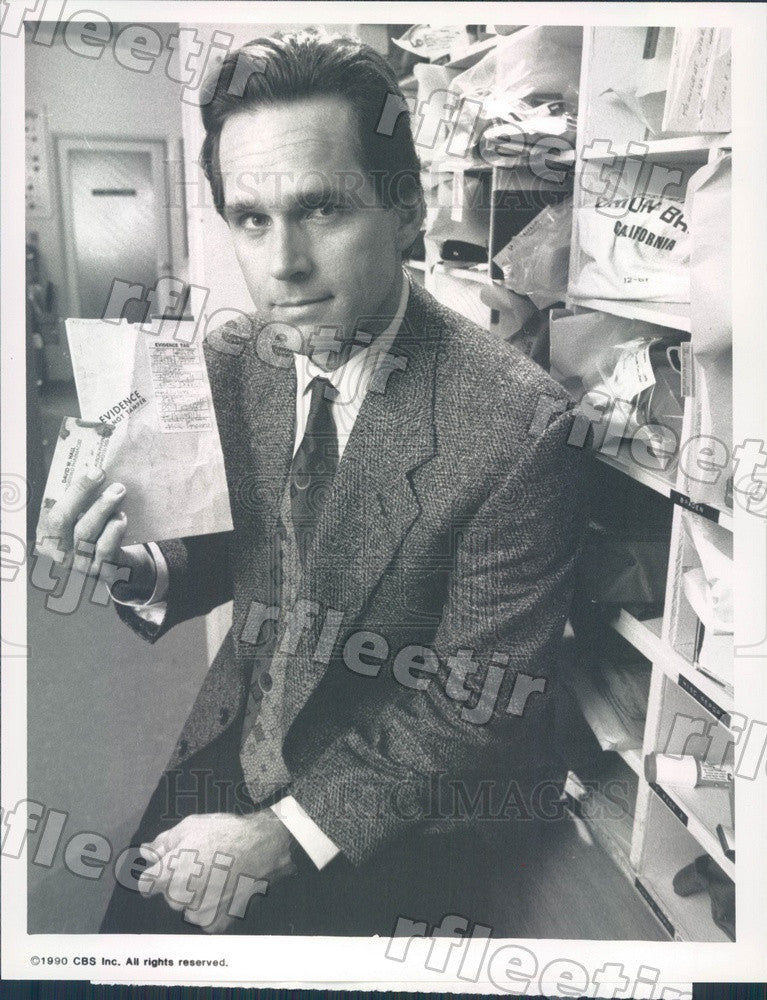 1990 Actor Gregory Harrison on TV Show True Detectives Press Photo adx751 - Historic Images
