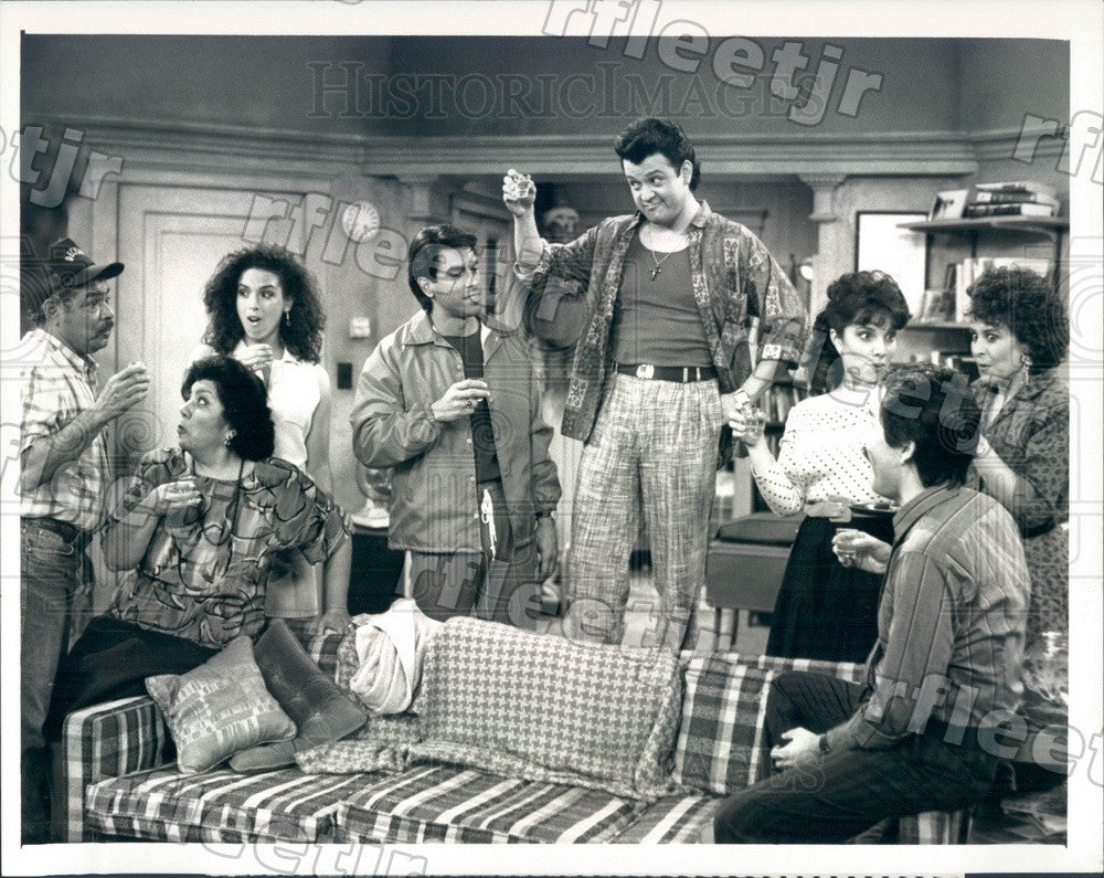 1988 Actors Paul Rodriguez & Eddie Velez on Trial and Error Press Photo adx759 - Historic Images