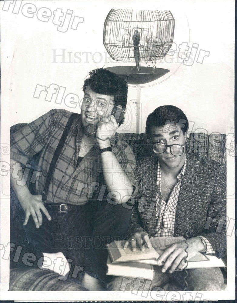 1988 Actors Paul Rodriguez & Eddie Velez on Trial and Error Press Photo adx767 - Historic Images