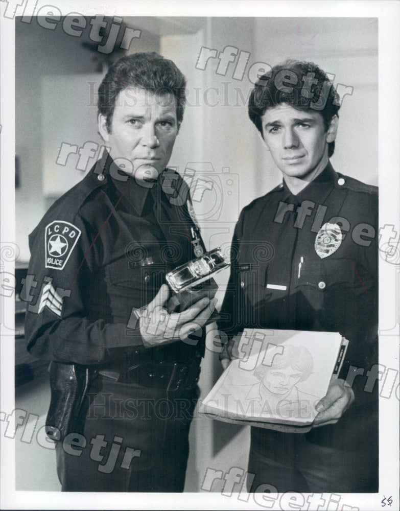 1984 Emmy Winning Actor William Shatner & Adrian Zmed Press Photo adx771 - Historic Images