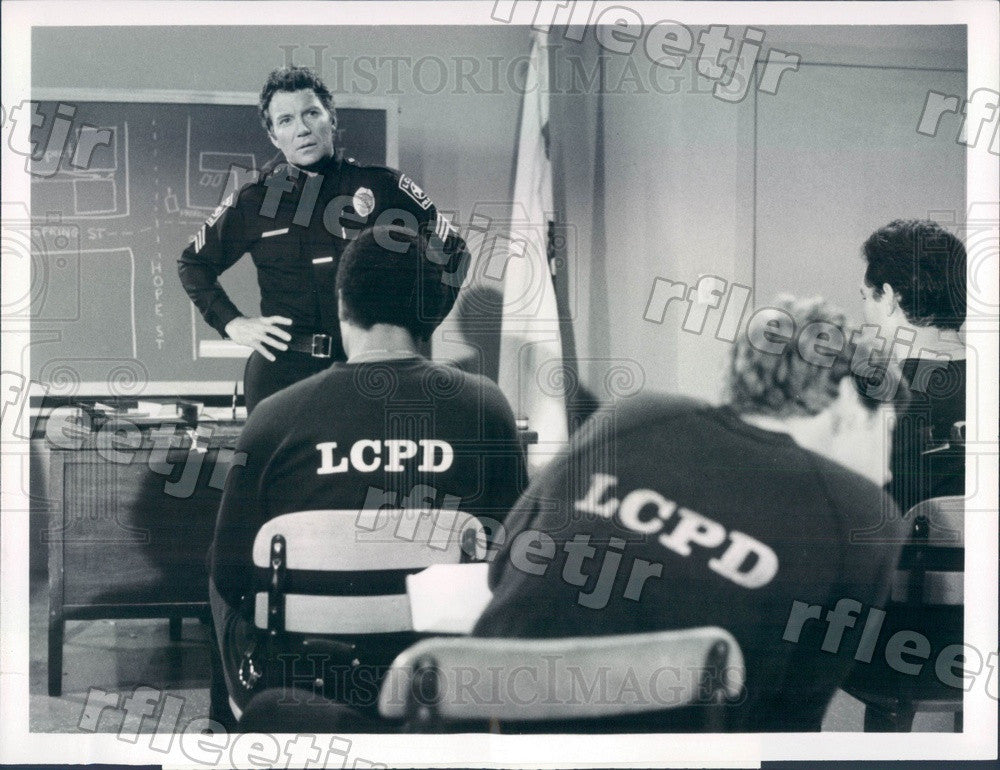 1982 Emmy Winning Actor William Shatner on TV Show TJ Hooker Press Photo adx777 - Historic Images