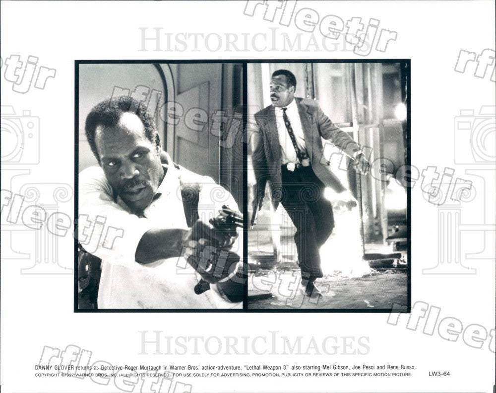 1992 Actor Danny Glover in Film Lethal Weapon 3 Press Photo adx797 - Historic Images