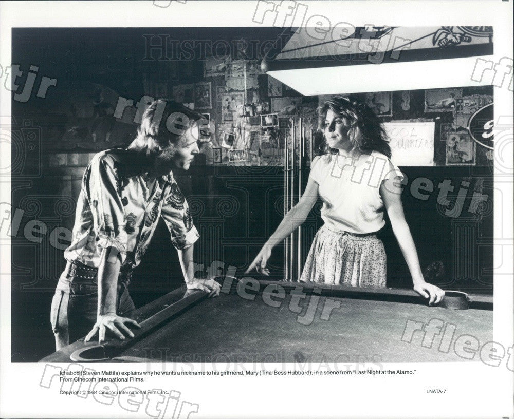 1984 Actors Steven Mattila & Tina-Bess Hubbard in Film Press Photo adx81 - Historic Images