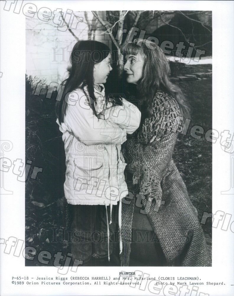 1989 Award Winning Actor Cloris Leachman & Rebecca Harrell Press Photo adx829 - Historic Images
