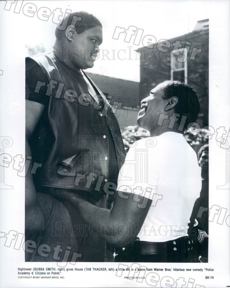1987 Actors Bubba Smith, Tab Thacker in Film Police Academy 4 Press Photo adx837 - Historic Images