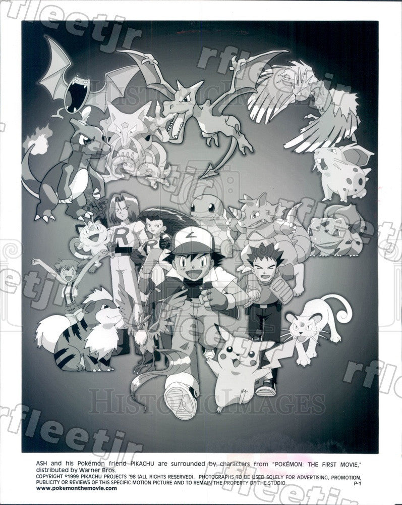 1999 Pokemon Characters Ash & Pikachu in Film Pokemon Press Photo adx843 - Historic Images