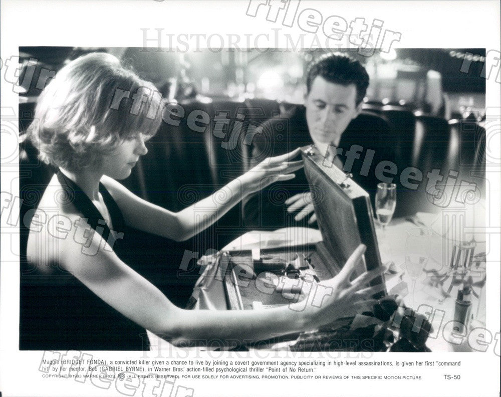1993 Actors Bridget Fonda & Gabriel Byrne in Film Press Photo adx857 - Historic Images
